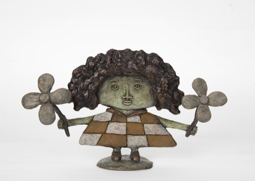 Sculptures by Dean Bowen seen at Private Residence, Melbourne - Girl with Flowers