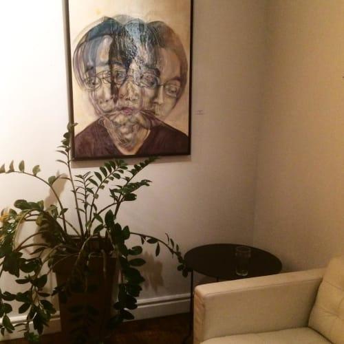 "Paintings by Morgan Abenhaim seen at The Spoke Club, Toronto - ""Kan"" Painting"
