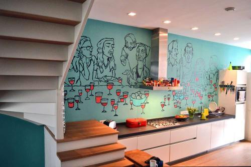 Murals by ABEL MACIAS STUDIO seen at Private Residence, Amsterdam - MURAL