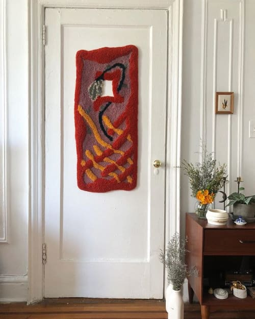 Wall Hangings by Sam Crow Rugs seen at Private Residence, Brooklyn - FLORA
