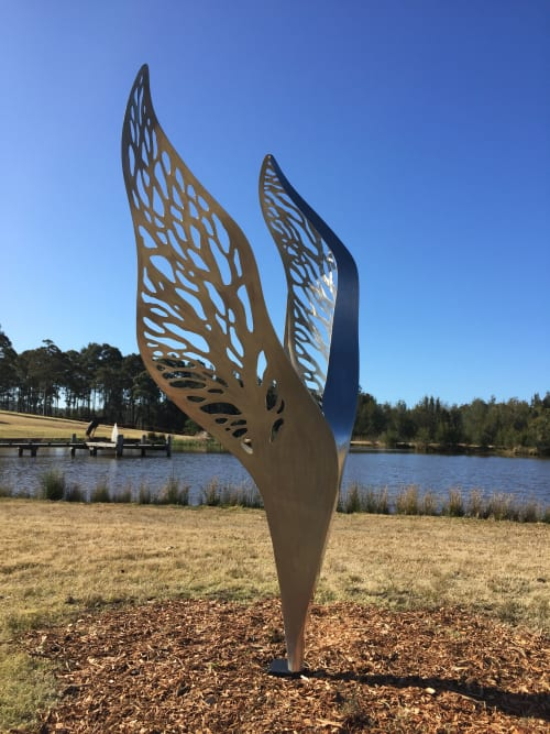 Public Sculptures by Jen Mallinson seen at Private Residence, Canberra - Ascend
