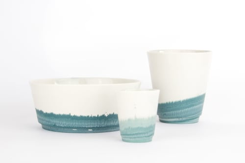 Cups by Studio Joachim-Morineau seen at Private Residence, Eindhoven - Moca ceramic cup / bowls