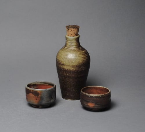 Tableware by John McCoy Pottery seen at Private Residence, Atascocita - Sake whiskey set