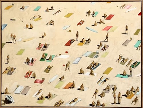 Paintings by Mitchell English seen at Bedouin Traders, Peregian Beach - Painting