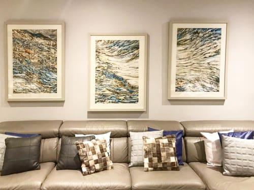 Paintings by Sangeeta Sagar - Quartz-26, Triptych