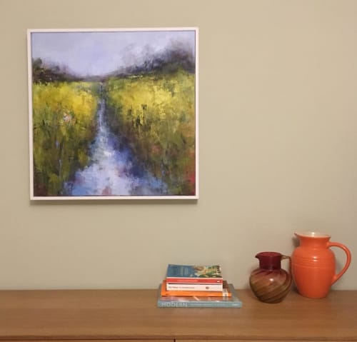 Paintings by Alison Tyldesley seen at Private Residence, Sheffield - Abstract Painting