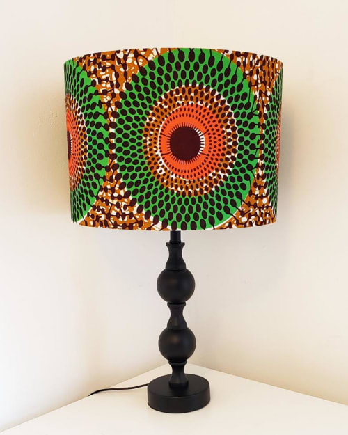 Lamps by MyAnkaralove seen at Private Residence, Ipswich - Green and Orange Lampshade