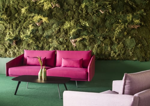 Couches & Sofas by STUA seen at Lobby in Sevilla, Spain, Seville - Costura Sofa and Solapa Table