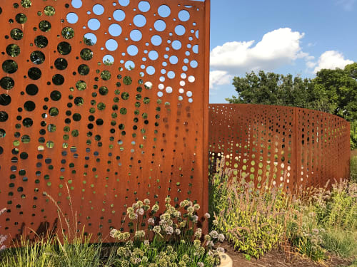 Sculptures by Vicki Scuri SiteWorks at Wichita Art Museum, Wichita, KS, Wichita - WAM Wind Screens