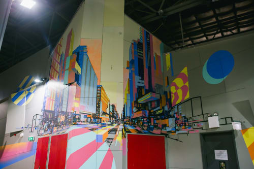 Murals by Dave Court seen at Northern Sound System, Elizabeth - Northern Sound System Interior Painting