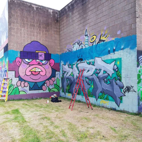 Murals by Niall O'Lochlainn seen at Coral Leisure Arklow, Arklow - Mural