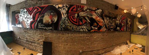 Murals by Carl J Gabriel seen at Char Sue, New York - Culture