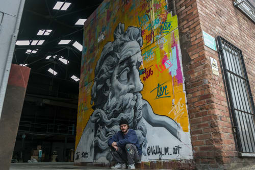 Murals by Vally_M_Art seen at Liverpool, Liverpool - Zeus (Ten Streets Market)