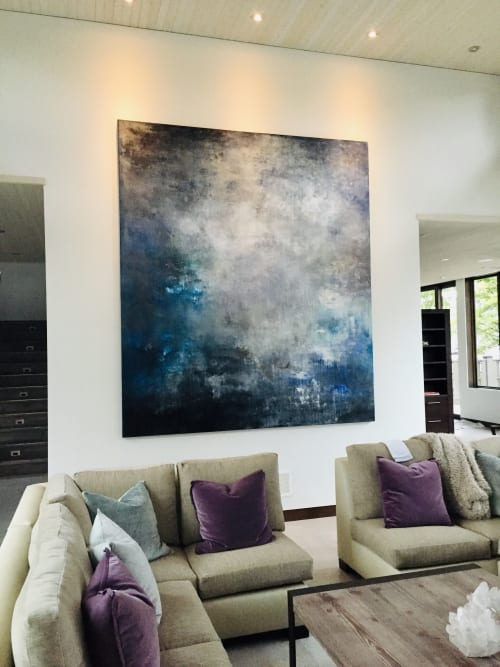 Paintings by Samantha daSilva Fine Art seen at Private Residence, Kelowna - Commissioned Painting (10 feet x 8.5 feet)