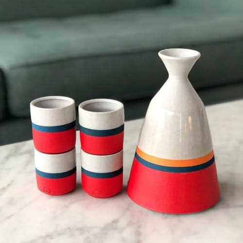 Tableware by Fenway Clayworks seen at Private Residence, Denver - Modern Sake Set