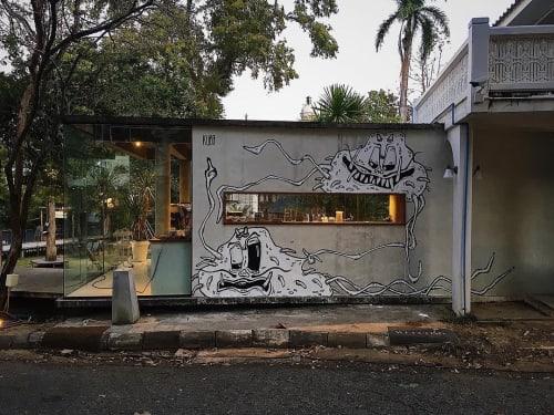 Street Murals by Kuba seen at Uniloft Chiangmai, Tambon Su Thep - COV_19 02