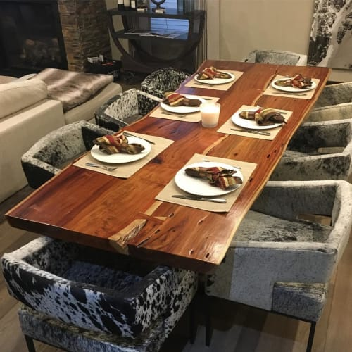 Tables by House of Alpine seen at Private Residence, Telluride - Live Edge Table