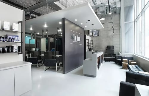 Interior Design by Brianne Bishop Design seen at Van Buren Gentlemen's Salon, Chicago - Interior Design