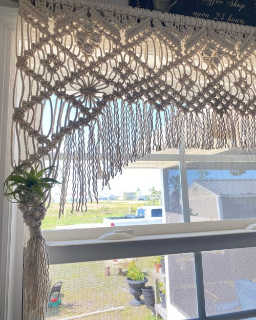 Macrame Wall Hanging by Frayed Knot Co. seen at Private Residence, Mexico Beach - Macrame Curtain