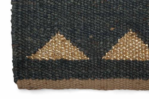Rugs by Casa Amarosa seen at Creator's Studio - Triangle Jute Doormat - Dusk & Gold