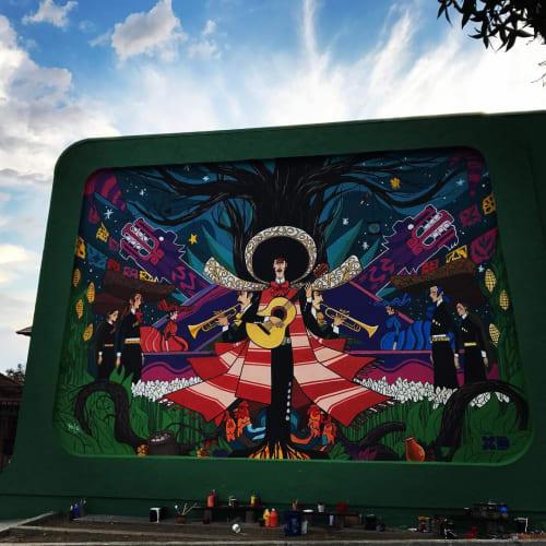 Street Murals by Levi Ponce seen at Plaza de la Raza Gallery, Los Angeles - Disney XD