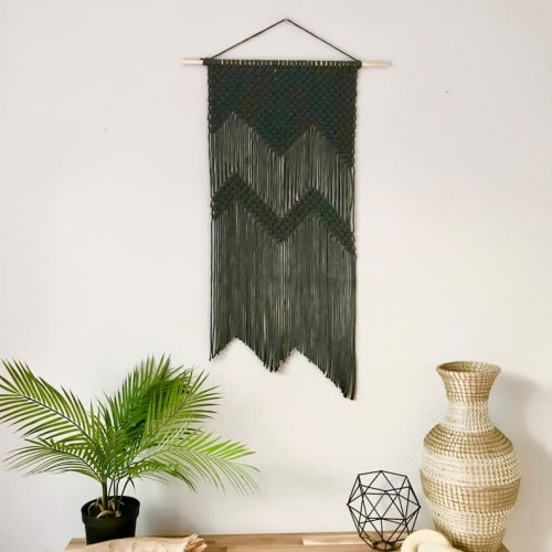 Macrame Wall Hanging by YASHI DESIGNS seen at Private Residence, Milpitas - The Mountains - Charcoal