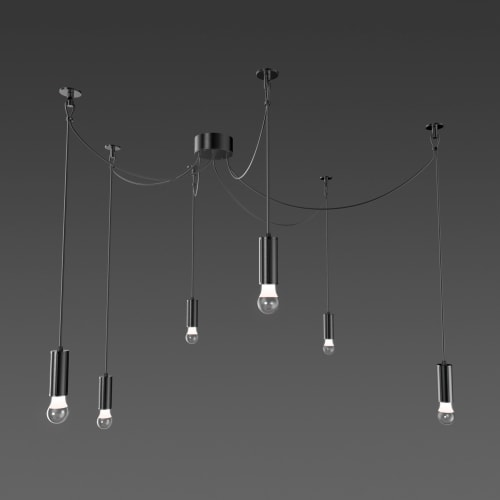Pendants by ALW - Architectural Lighting Works seen at Red Light Management, Culver City - Glass Act Multiples (RPD14)