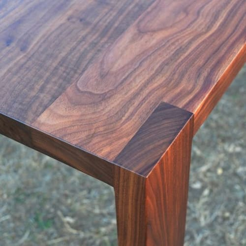 Tables by Ryan Wells seen at Private Residence, Seattle - Walnut table