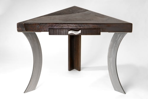 Tables by Andi-Le seen at Private Residence - Corner Writing Desk