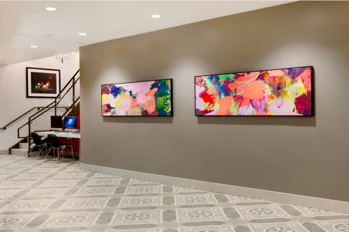 "Paintings by Nicole Mueller seen at University Crossings Philadelphia, Philadelphia - ""Crossings"" Paintings at Drexel University"