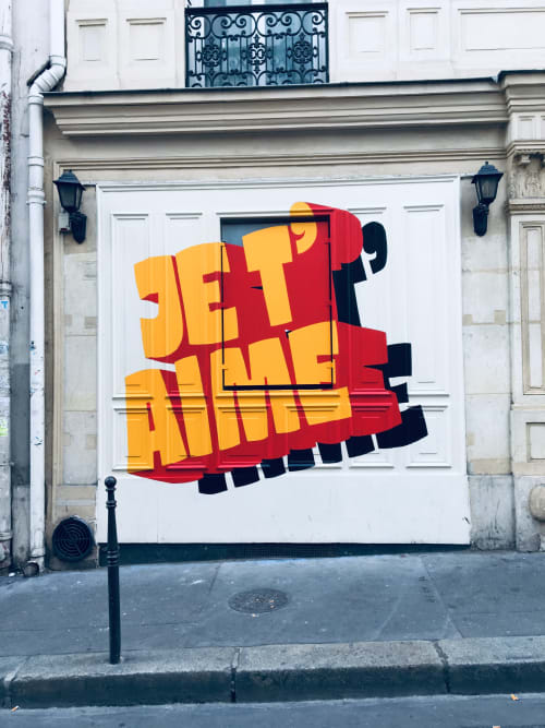Murals by PRENDSLEFACILE seen at Rue Rodier, Paris - Mural
