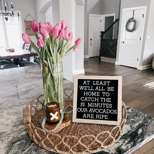 Art & Wall Decor by Letterfolk seen at Chelsie Morales' Home - Letter Board