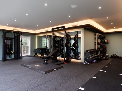 Interior Design by Astounding Interiors seen at Private Residence, London - Home Gym & Spa