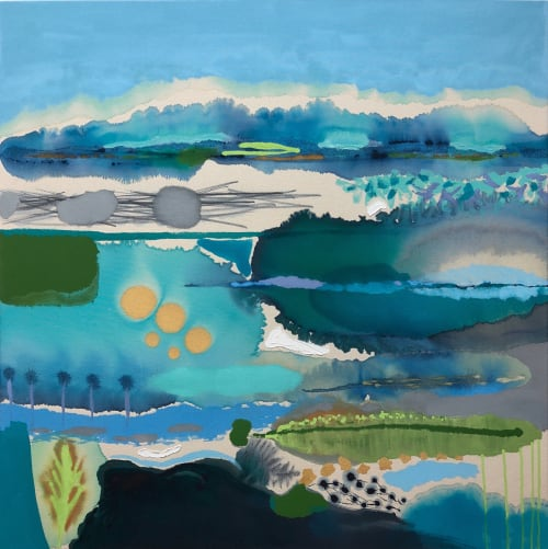 Paintings by Wyanne Thompson at 240 A1A N, Ponte Vedra Beach - Sticks, Stones & Feathers