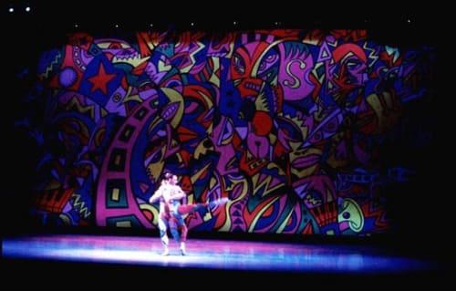"Murals by Tom Cramer seen at Oregon Ballet Theatre, Portland - ""Jungle"" mural"