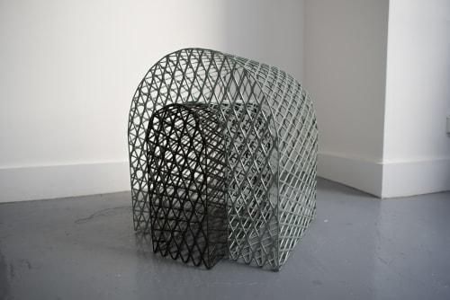 Chairs by Hannah Fink at Hannah Fink Studio, Brooklyn - Rainbow Bench
