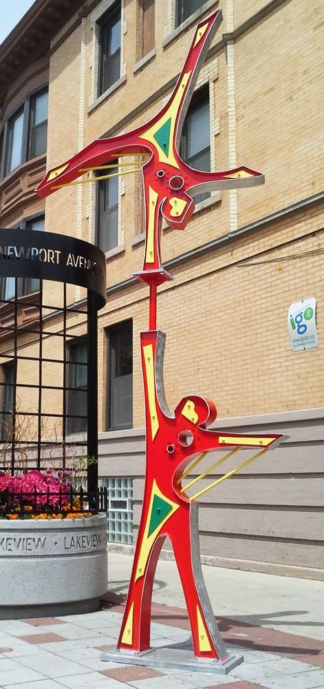 Public Sculptures by Gus Lina Fine Art seen at 5917 N Broadway, Chicago - Without Limits