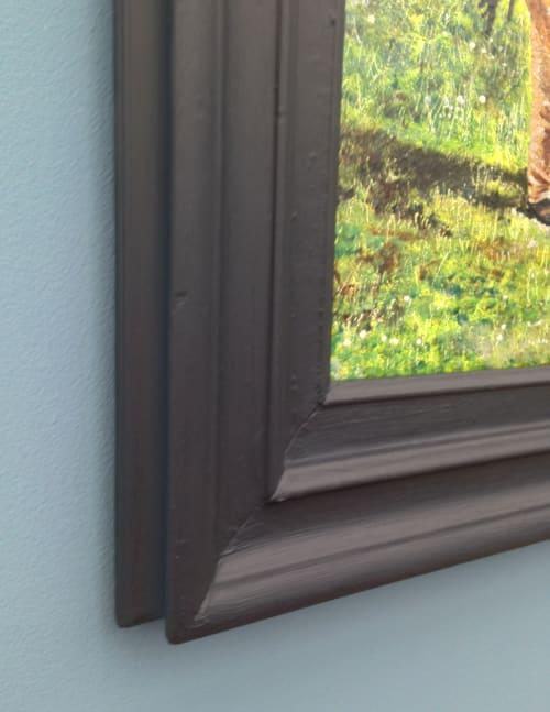 Paintings by John Pimlott seen at Private Residence, Bebington - The Woodcutter