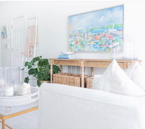 Murals by Danielle Cather Cohen Art seen at Private Residence, Charleston - Charleston Cityscape