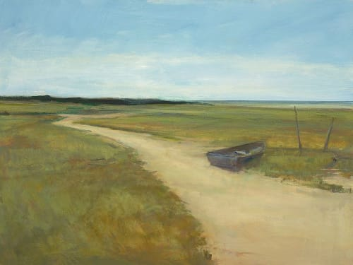"Art & Wall Decor by YJ Contemporary seen at East Greenwich, East Greenwich - Anne Packard ""Lone Boat"""