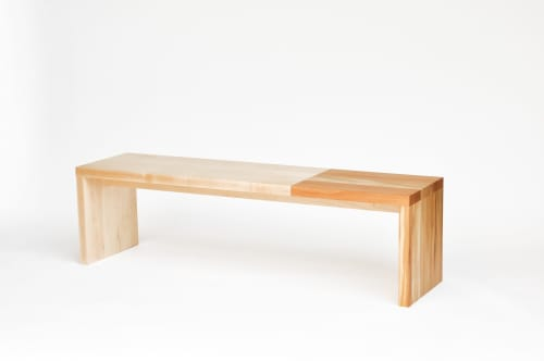 Duotone Bench - Maple & Sycamore | Benches & Ottomans by Iannone Design
