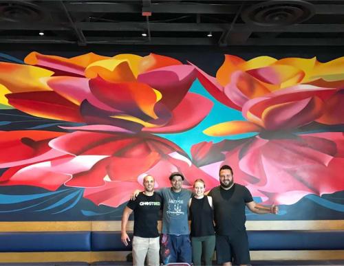 Murals by Tato Caraveo seen at Vecina, Phoenix - Indoor Mural