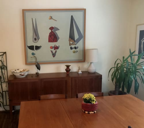 Paintings by Ilene Curts seen at Private Residence, Bloomington - 'Three Bishops' oil painting by Ilene Curts
