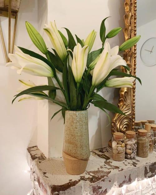 Vases & Vessels by cyan ceramics seen at Private Residence, New York - Custom Angular Vase