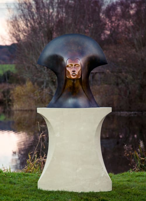 Public Sculptures by Simon Gudgeon Sculpture seen at Sculpture By The Lakes, Dorchester - Whispering Spirit by Simon Gudgeon