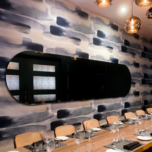 Wallpaper by Emma Hayes seen at The CUT Restaurant & Bar, Auckland - River Wallpaper