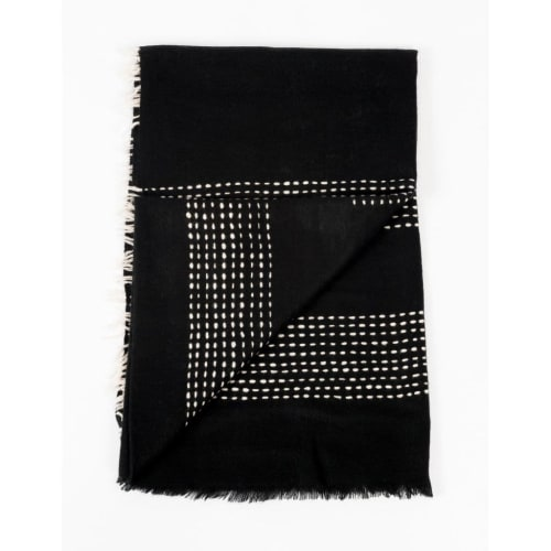 Walnut Black Yak Throw   Linens & Bedding by Studio Variously