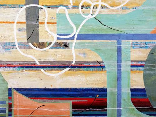 Paintings by Kari Souders seen at Creator's Studio, Villanova - Organic Grid N 4