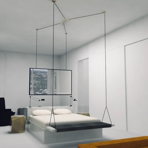 Beds & Accessories by Lumifer by Javier Robles seen at W Austin, Austin - Custom Hanging Bed, Desk and Swing