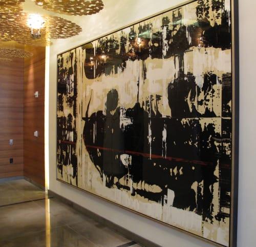 """Paintings by Jeff Iorillo seen at Waldorf Astoria, Las Vegas, Las Vegas - """"Slipstream"""""""